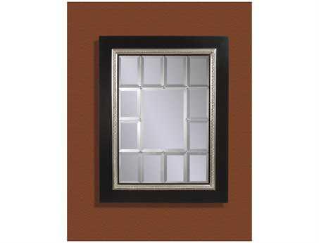 Bassett Mirror Old World 42 x 54 Black & Silver Fiona Wall Mirror BAM2241BEC
