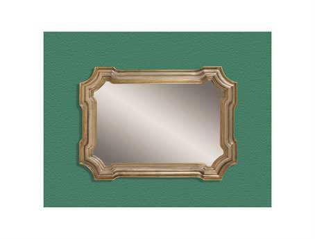 Bassett Mirror Old World 43 x 31 Silver & Gold Angelica Wall Mirror BAM2804EC