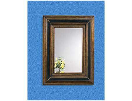 Bassett Mirror Old World 43 x 55 Antique Gold & Ebony Valejio Wall Mirror BAM2988BEC