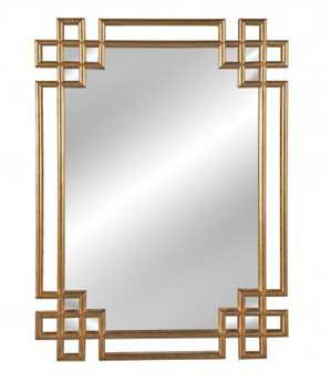 Bassett Mirror Old World 34 x 48 Antique Gold Frederick Wall Mirror BAM3620EC