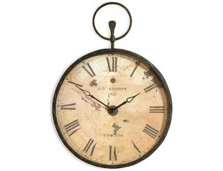 Bassett Mirror Old World Forged Bronze Papa's Pocket Watch Wall Art BAM2310EC
