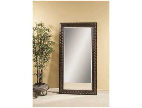 Bassett Mirror Pan Pacific 42 x 80 Fruitwood Newcombe Leaner Mirror BAM2923BEC