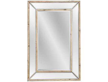 Bassett Mirror Pan Pacific 32 x 47 Scrubbed Pine Pompano Wall Mirror BAM3337BEC