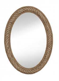Bassett Mirror Pan Pacific 30 x 41 Jute Rope Wall Mirror BAM3646EC