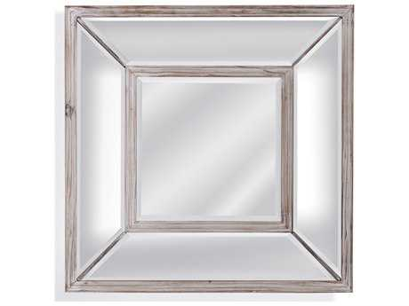 Bassett Mirror Pan Pacific 24 x 24 Square Pompano Wall Mirror BAM3847BEC