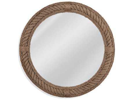Bassett Mirror Pan Pacific Boothbay 36'' Jute Rope Wall Mirror BAM3995EC