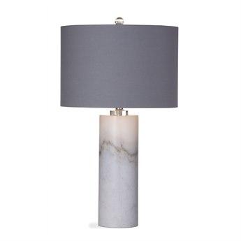 Bassett Mirror Raywick White Marble Buffet Lamp BAL3129TEC