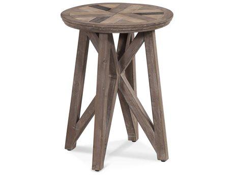 Bassett Mirror Schyuler Natural Wood 18'' Wide Round End Table BA3480LR223