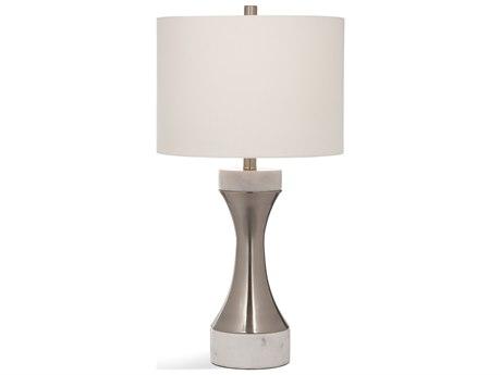 Bassett Mirror Stone Polished Silver / Marble Buffet Lamp
