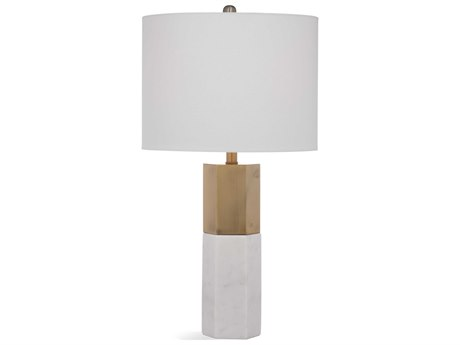 Bassett Mirror Stone Marble / Brass Buffet Lamp
