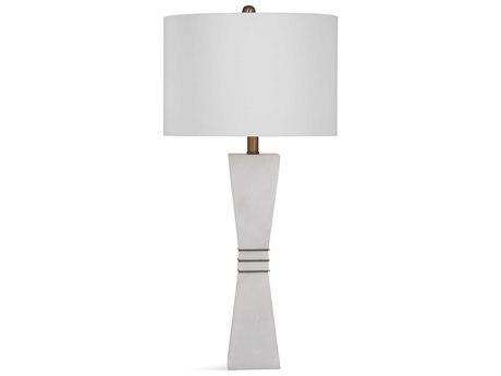 Bassett Mirror Stone White / Brass Buffet Lamp