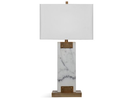 Bassett Mirror Stone Brushed Brass / White Buffet Lamp BAL3691T