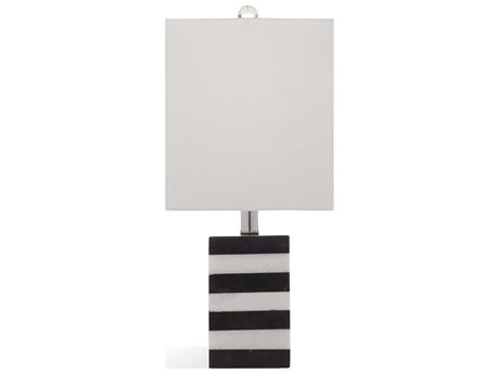 Bassett Mirror Stone Black / White Table Lamp BAL3440T