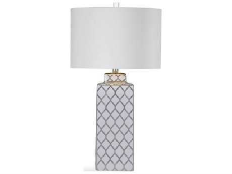 Bassett Mirror Sydney Silver & White Table Lamp BAL3335TEC