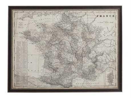 Bassett Mirror Thoroughly Modern Antique Map of France Wall Art BA9900347EC