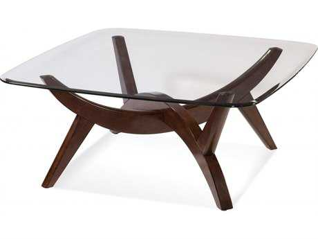 Bassett Mirror Thoroughly Modern 42 x 18 Square Gillian Cocktail Table BA3015131BTEC