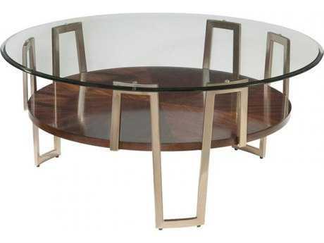 Bassett Mirror Thoroughly Modern 40'' Round Cornell Cocktail Table BA3017121BTEC