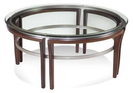 Bassett Mirror Thoroughly Modern 40 Round Cappuccino Fusion Cocktail Table
