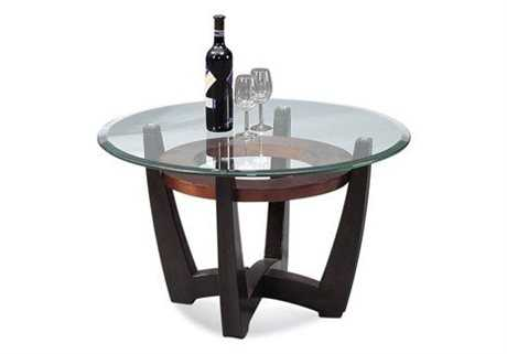 Bassett Mirror Thoroughly Modern 34 Round Brown Elation Cocktail Table