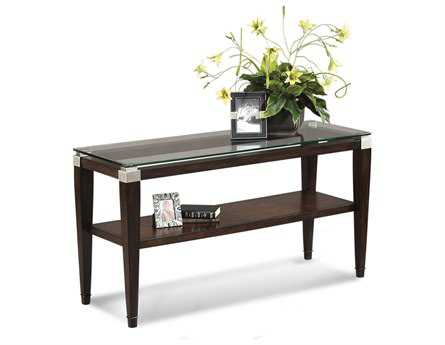 Bassett Mirror Thoroughly Modern 20 x 54 Rectangular Cappuccino Dunhill Console Table BAT1171400EC