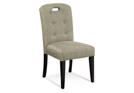Bassett Mirror Thoroughly Modern Beige Bartlett Slot Back Parson Dining Side Chair BADPCH35748EC