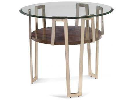 Bassett Mirror Thoroughly Modern Gold 28'' Cornell Round End Table BA3017221BTEC