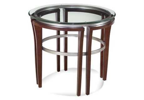 Bassett Mirror Thoroughly Modern 28 Round Cappuccino Fusion End Table BA8116220912EC