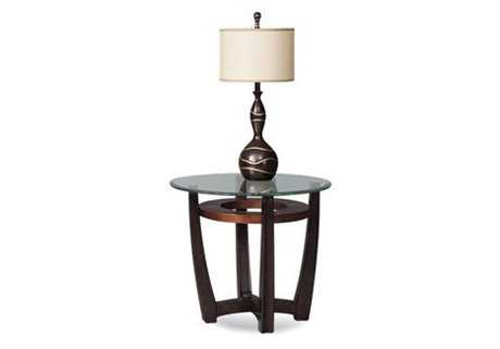 Bassett Mirror Thoroughly Modern 28 Round Brown Elation End Table BAT1078220076EC