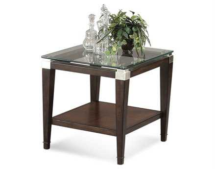 Bassett Mirror Thoroughly Modern 28 x 24 Rectangular Cappuccino Dunhill End Table BAT1171200EC