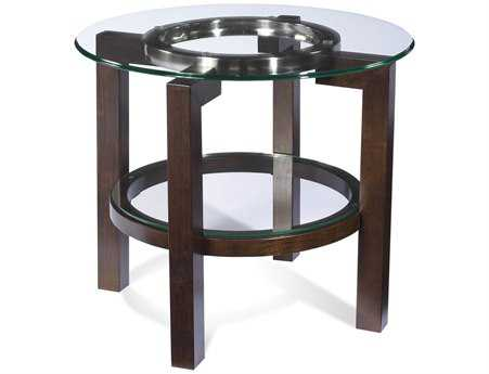 Bassett Mirror Thoroughly Modern 28 Round Brown Oslo End Table BAT1705220EC