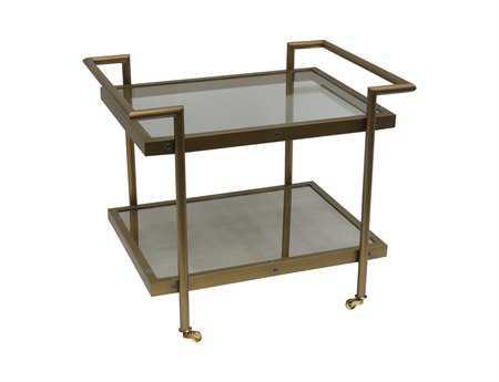 Bassett Mirror Thoroughly Modern 22 x 30 Rectangular Bronze Fouquet End Table BAT2739200EC