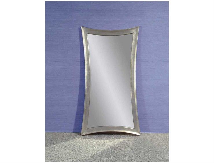 Bassett Mirror Thoroughly Modern 45 X 81 Silver Leaf Hour Glass
