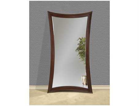 Bassett Mirror Thoroughly Modern 45 x 82 Merlot Finish Hour Glass Leaner Mirror BAM2464EC