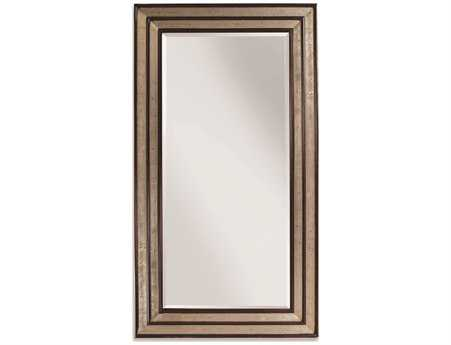 Bassett Mirror Thoroughly Modern 46 x 84 Silver & Merlot Cyrus Leaner Mirror