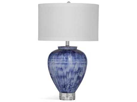 Bassett Mirror Thoroughly Modern Reena Blue and White Table Lamp BAL3307TEC