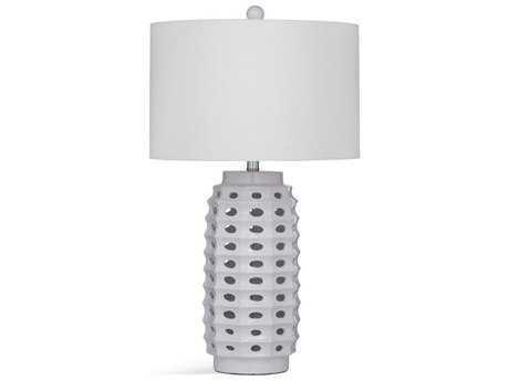 Bassett Mirror Thoroughly Modern Elmore White Table Lamp BAL3325TEC