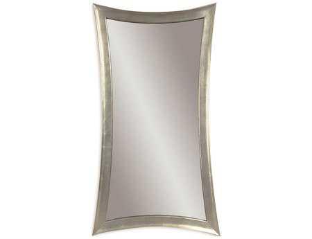 Bassett Mirror Thoroughly Modern 36 x 48 Silver Leaf Hour-Glass Wall Mirror BAM1762EC