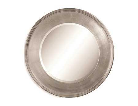 Bassett Mirror Thoroughly Modern 36 x 36 Silver Leaf Ursula Wall Mirror BAM2756BEC