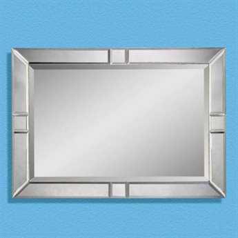 Bassett Mirror Thoroughly Modern 30 x 42 Bevel Barbarella Wall Mirror BAM2846BEC