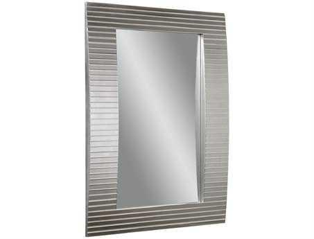 Bassett Mirror Thoroughly Modern 38 x 52 Clear Beveled Tambour Wall Mirror BAM3422BEC