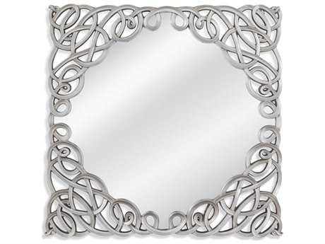 Bassett Mirror Thoroughly Modern Carter 47'' Silver Wall Mirror BAM3986EC