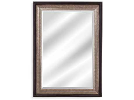 Bassett Mirror Thoroughly Modern Griffin 31'' x 43'' Black and Silver Wall Mirror BAM4025BEC
