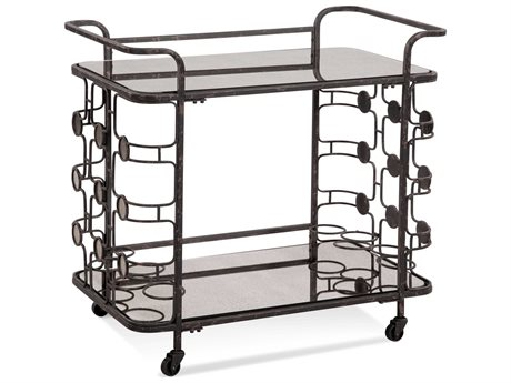 Bassett Mirror Velde Ratty Black Glam Cart BA3373LR471