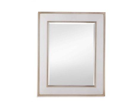 Bassett Mirror Gloss White / Silver Leaf Wall
