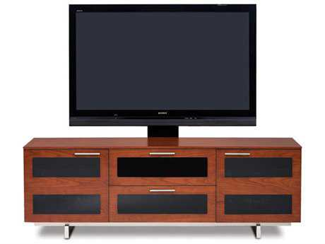 BDI Avion S. II 65'' x 22'' Natural Stained Cherry Triple Wide TV Stand BDI8927CH