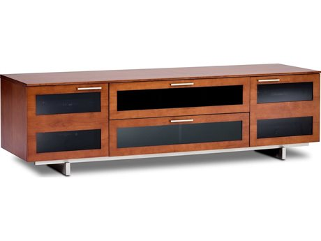 BDI Avion S. II 77'' x 22'' Natural Stained Cherry Quad Wide TV Stand BDI8929CH
