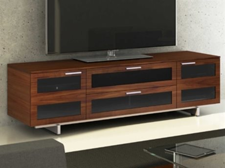 BDI Avion S. II 77'' x 22'' Chocolate Stained Walnut Quad Wide TV Stand BDI8929CWL