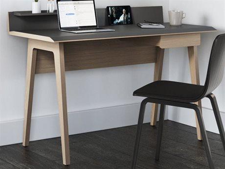 BDI Bevel Grey / Drift Oak Computer Desk