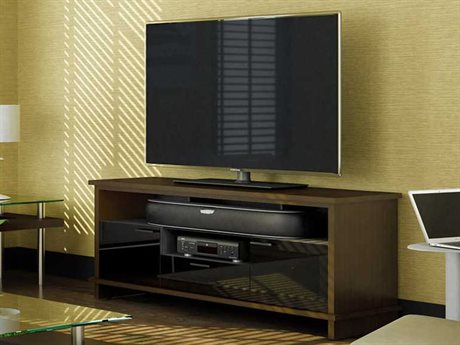 BDI Braden 68.75'' x 21'' Chocolate Stained Walnut Triple Width Tall TV Stand BDI8828CWL