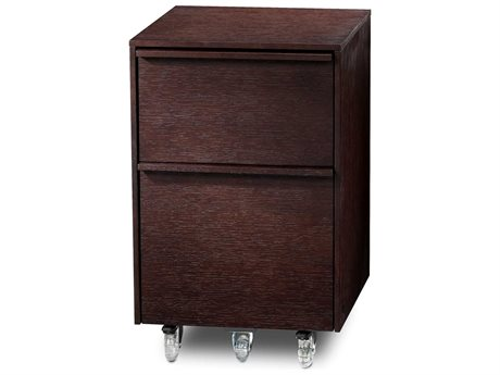 BDI Cascadia 16'' x 18'' Espresso Stained Oak Two Drawer Mobile Pedestal File Cabinet BDI6207ES